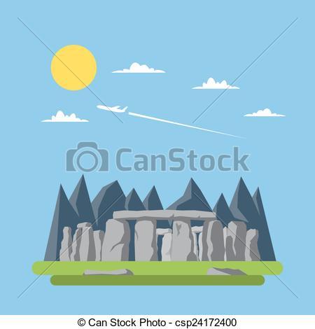 Stonehenge clipart united kingdom Clipart og stonehenge Flat