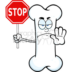 Stop clipart angry Cartoon Illustration Bone Bone Illustration