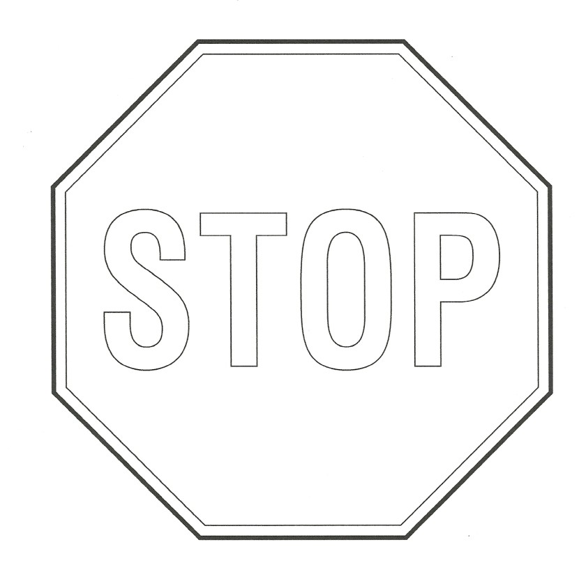 Stop clipart black and white Com Sign Black Black Best