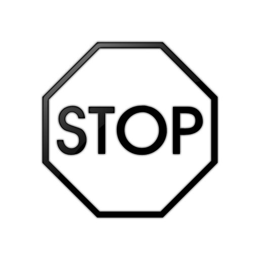 Stop clipart black and white Sign Black Clip Best #420
