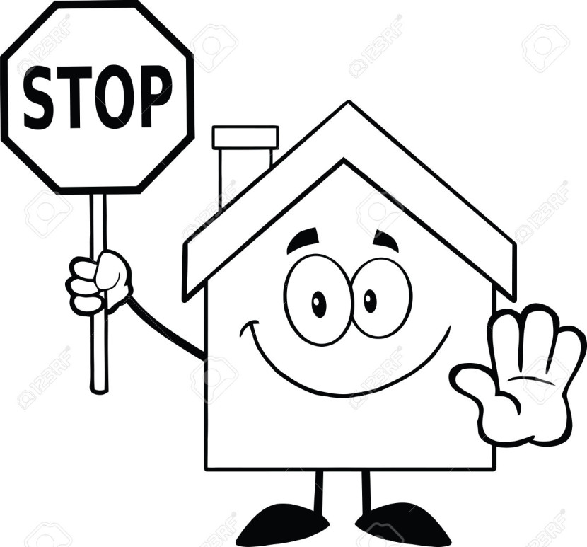 Stop clipart black and white Sign Stop A Clipartion Black