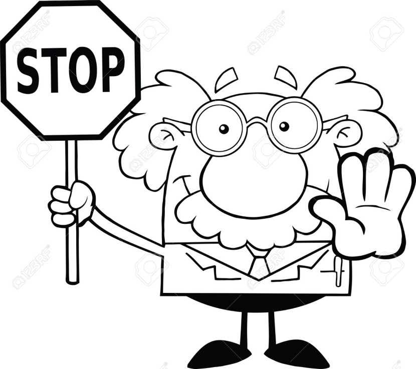 Stop clipart black and white And Black A Black Stop