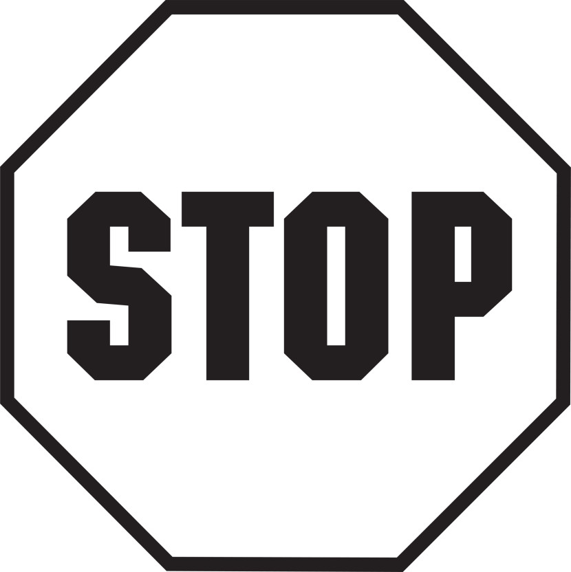 Stop clipart black and white Clipartix art Stop Stop sign