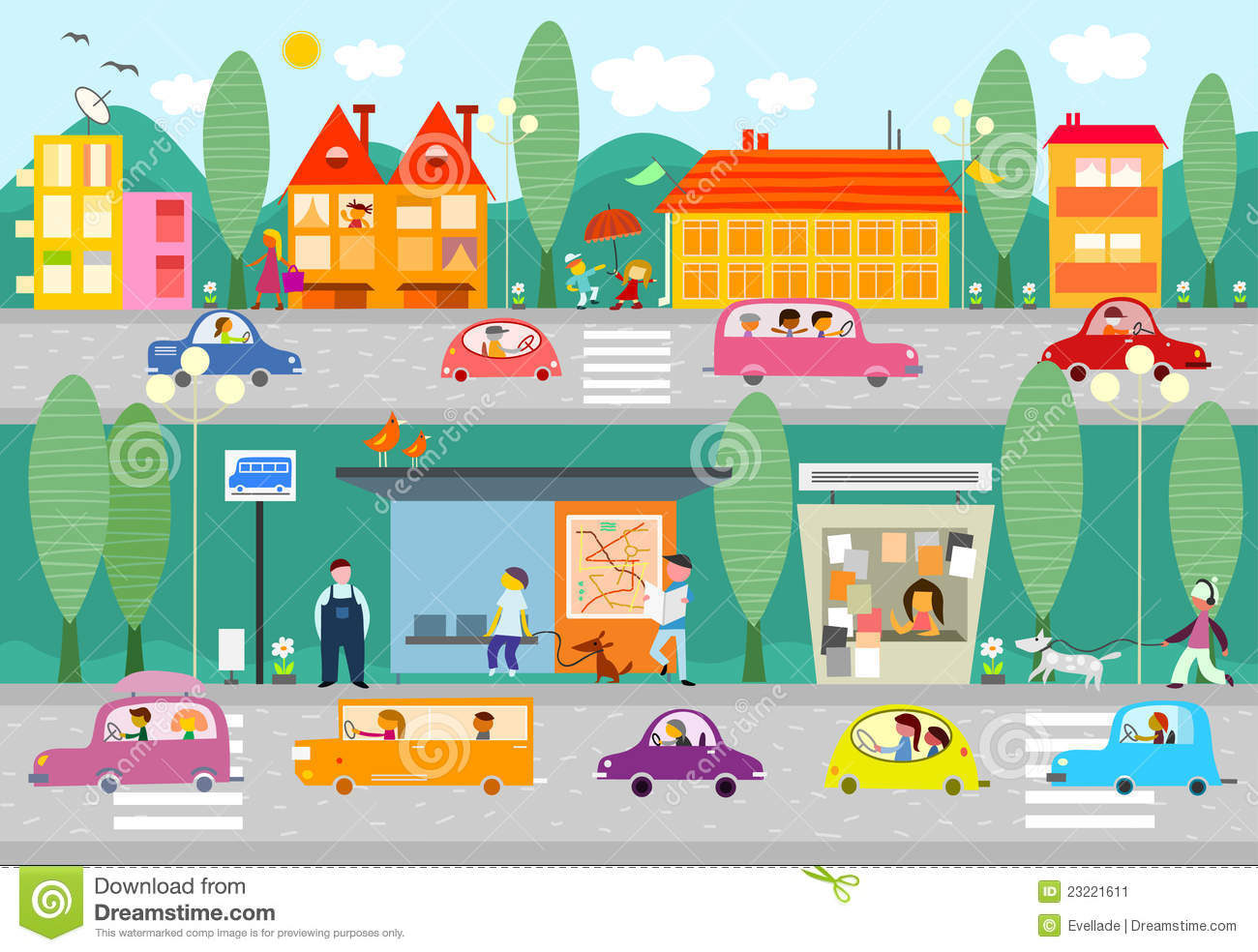 Traffic clipart city community (16+) city clipart City Clipart