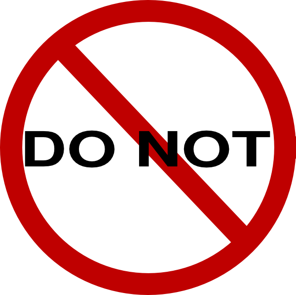 Stop clipart do not Online image  this Not