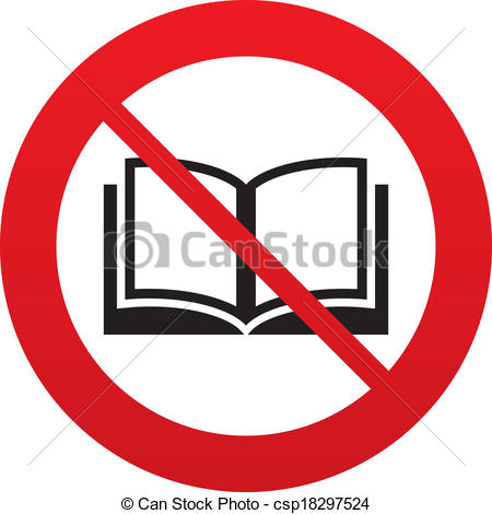 Stop clipart do not Sign Book icon Open read