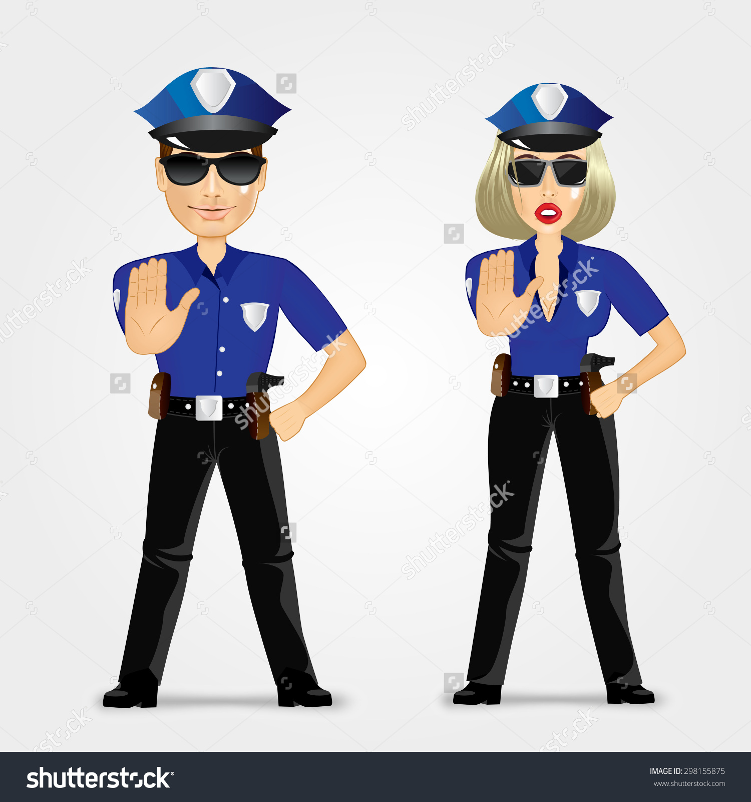 Stop clipart police man Woman collections traffic woman clipart