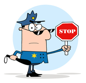 Traffic clipart control Stop cop 3 sign sign