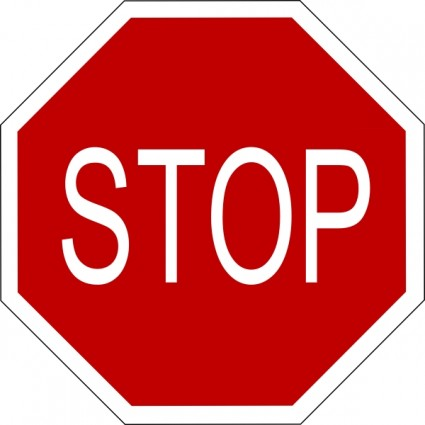 Stop clipart safety sign  for Clipart on Vector