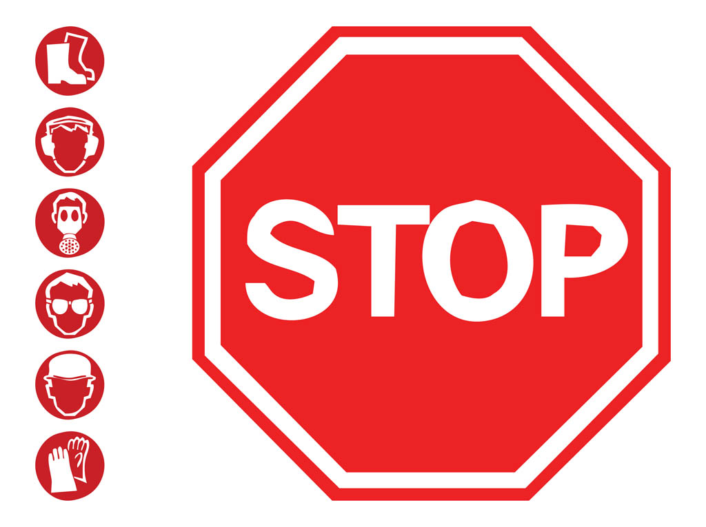 Stop clipart safety sign Free on Clipart Free Sign