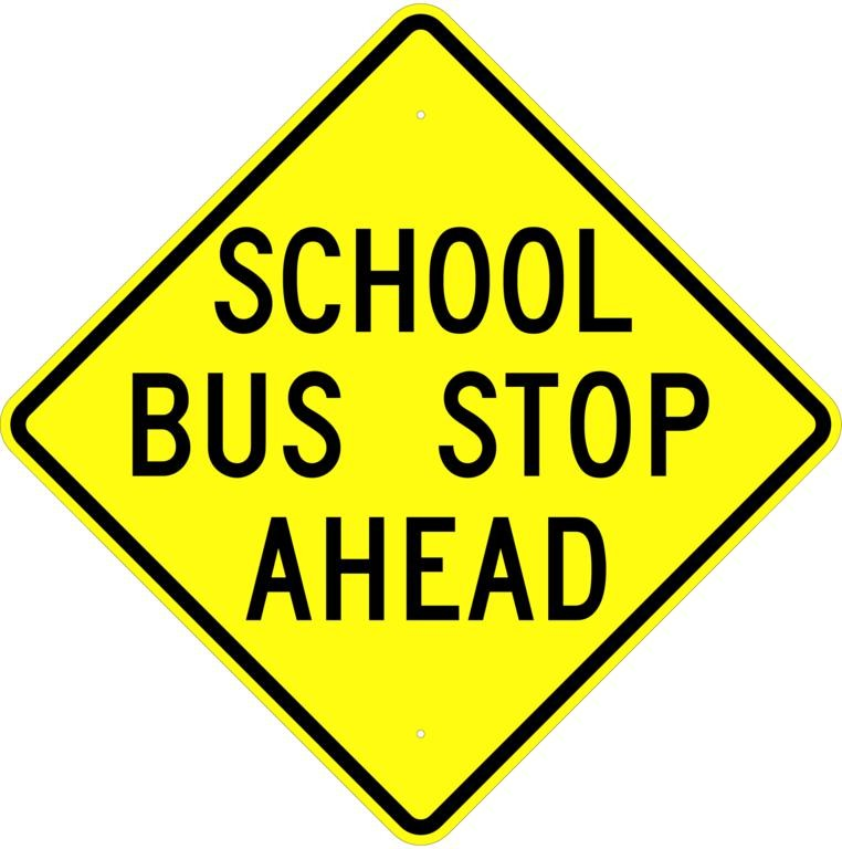 Stop clipart safety sign School Free 24x24 School Sign