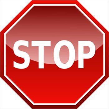 Stop clipart signage 2 pdclipart Stop com sign