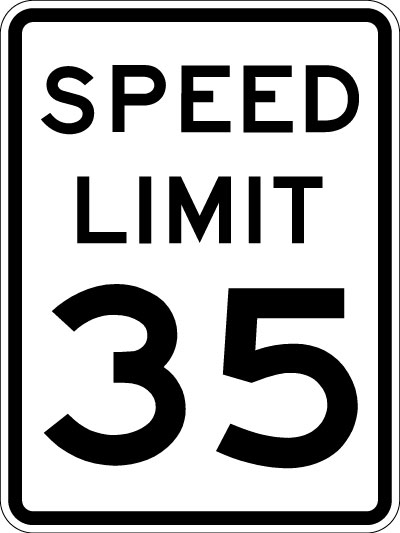 Stop clipart speed limit Speed (Reflective  Sign Limit