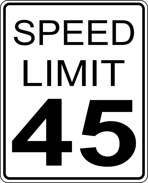 Stop clipart speed limit Vector 45mph clip Speed Limit