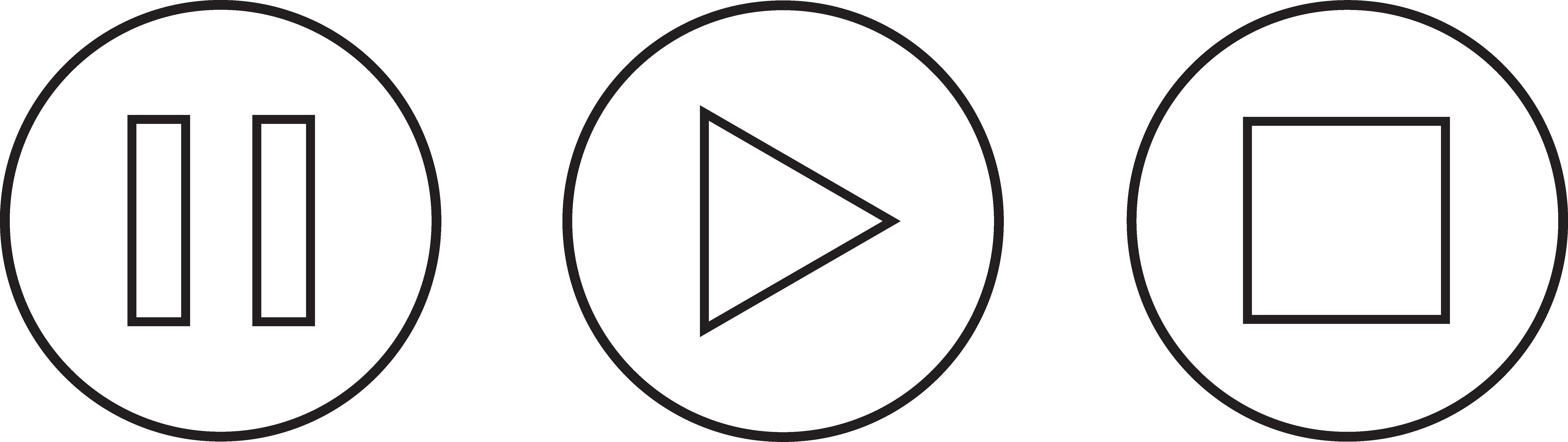 Audio clipart pause button #1