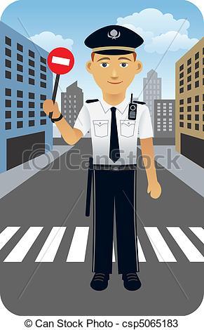 Traffic clipart police officer Of Officer illustration a cartoon