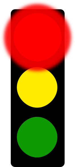Traffic clipart red light Online this art at Stop