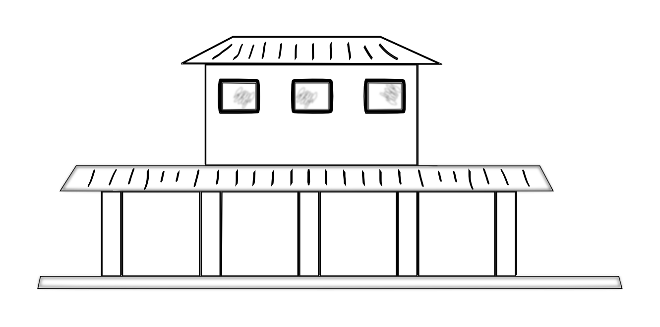 Train Station clipart black and white Station Train Clip Station Clip