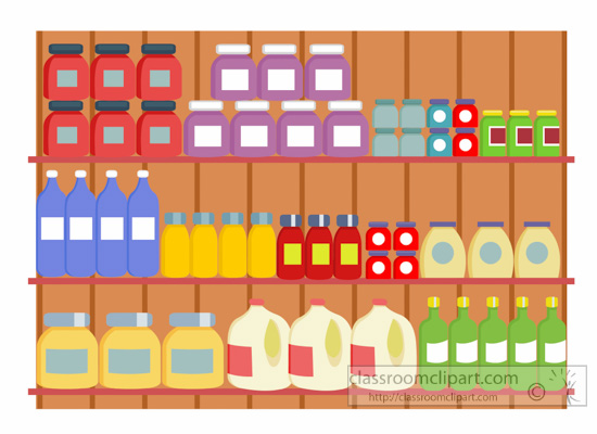 Cart clipart food shop Grocery Clipart  115 Grocery