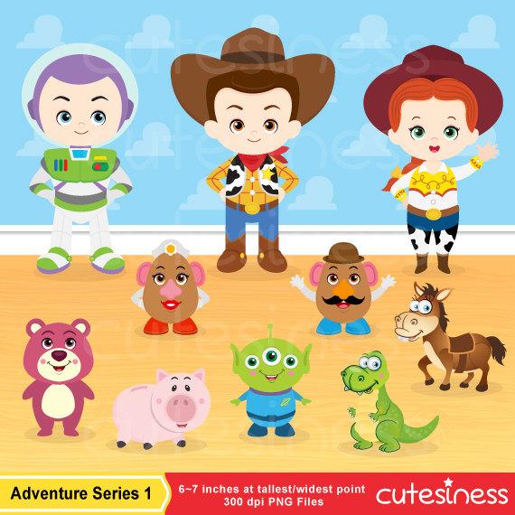 Toy Story clipart digital Digital  Clip Toy Art