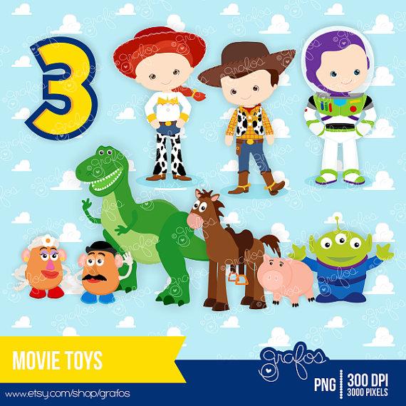 Toy Story clipart digital TOYS  Personal Digital Digital