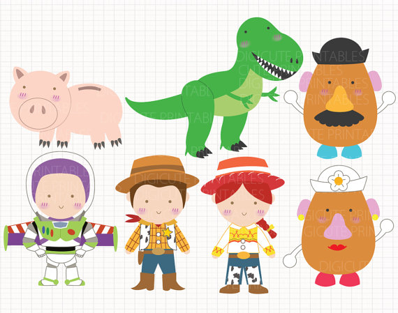 Toy Story clipart digital And CLIP inspirados Disney juguete