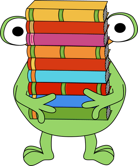Covered clipart book cartoon Stack Images a Monster Clip