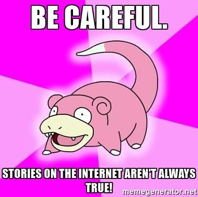 Stories clipart careful  aren't Slowpoke careful be