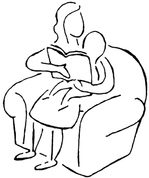 Cuddle clipart bedtime Family Clip bytes) reading