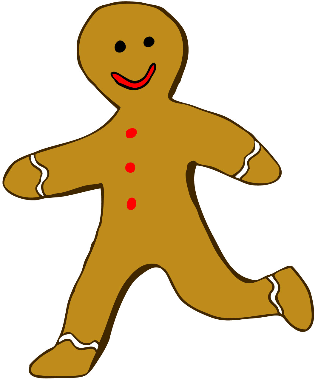 Gingerbread clipart story Running Story man Gingerbread gingerbread