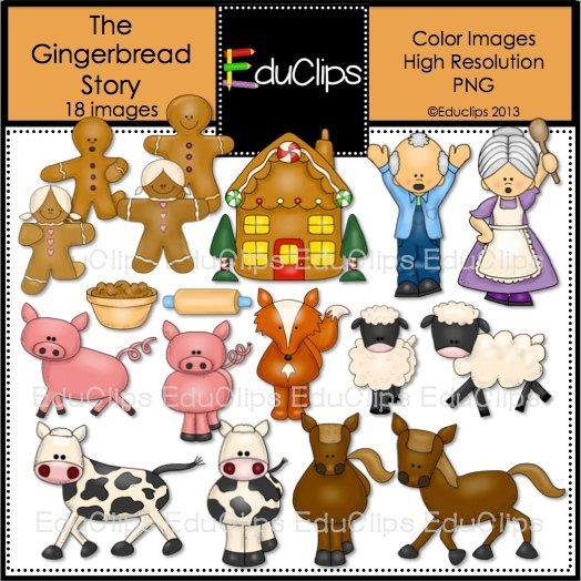 Gingerbread clipart story The images Story 73 Gingerbread