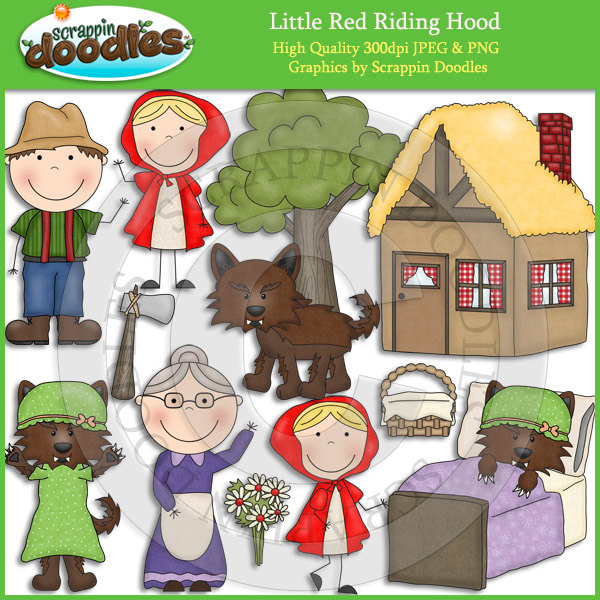 Stories clipart little red riding hood Red Red Art Hood Art