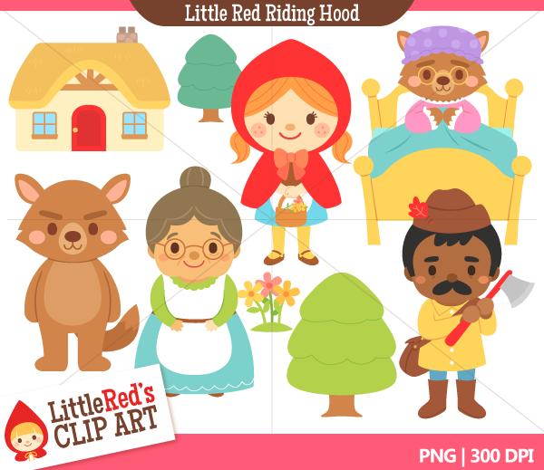 Stories clipart little red riding hood Hood Clipart Panda Art Free
