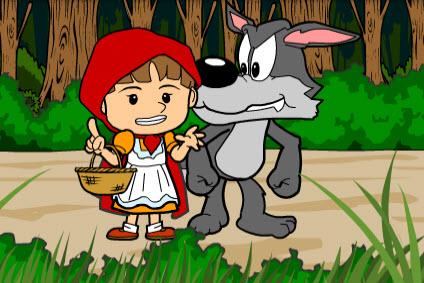Red Riding Hood clipart red writing LearnEnglish Little Kids Council Hood