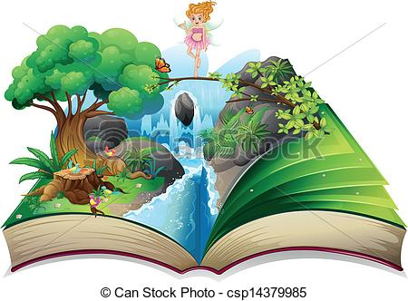 Stories clipart opened book An an fairy open book