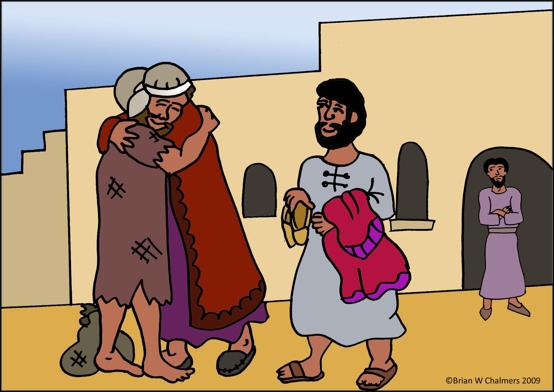 Stories clipart parable Prodigal Hugs eBibleTeacher The the