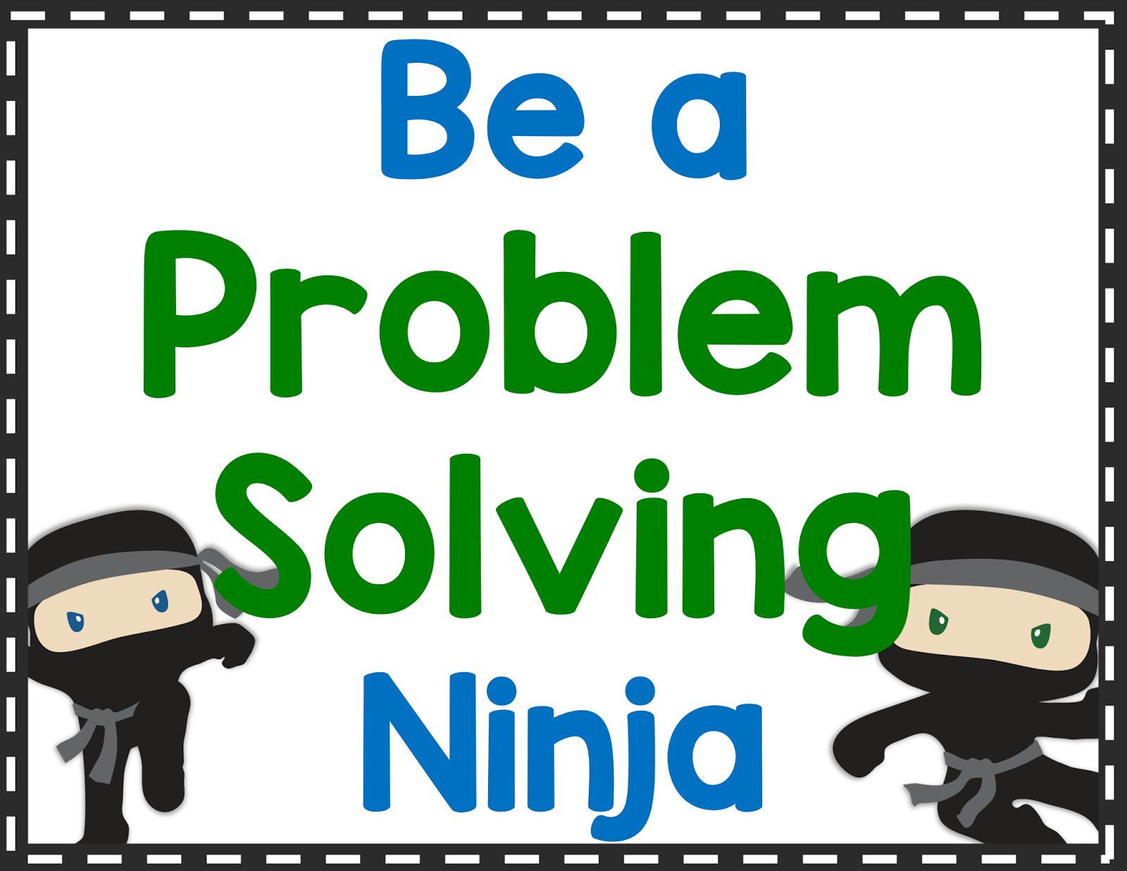Word clipart problem Problem Ninjas Solving