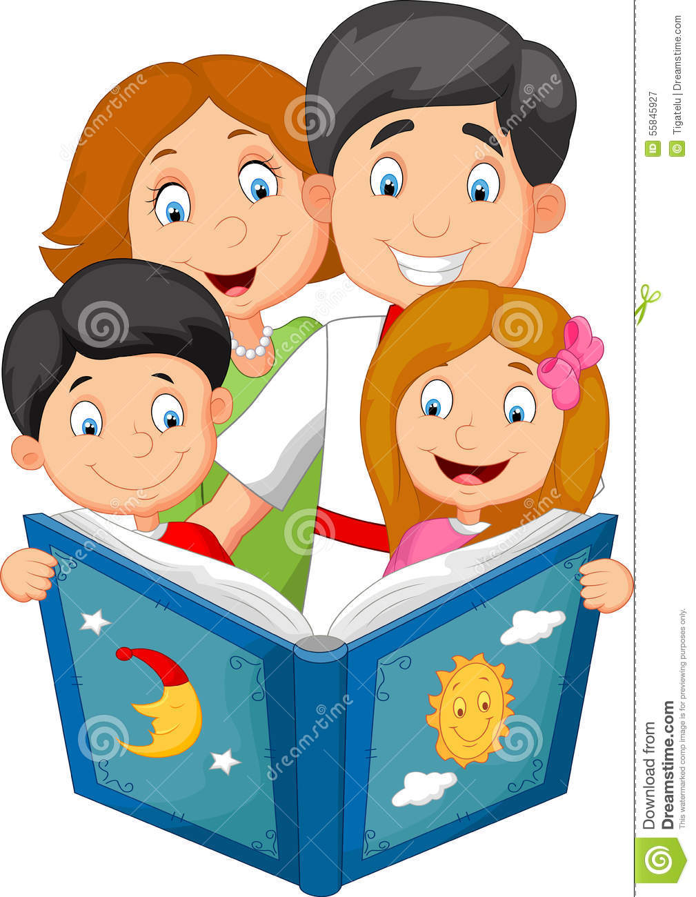 Worm clipart bedtime reading Bedtime Clipart Story Family clipart