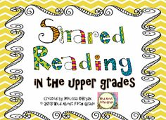 Stories clipart shared reading  Shared Upper Freebie Friday