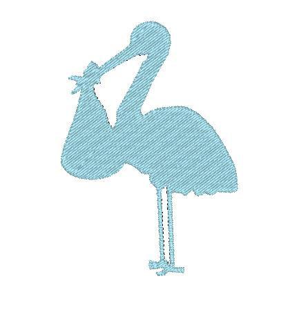 Blue clipart stork 4x4 Silhouette Stork Digital Download