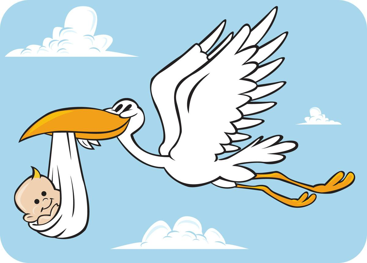 Blue clipart stork Clip Free Clipart  Art