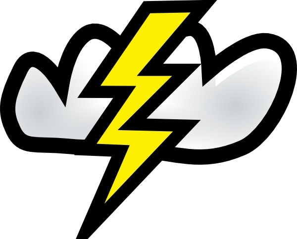 Thunderstorm clipart windy Office  art svg clip