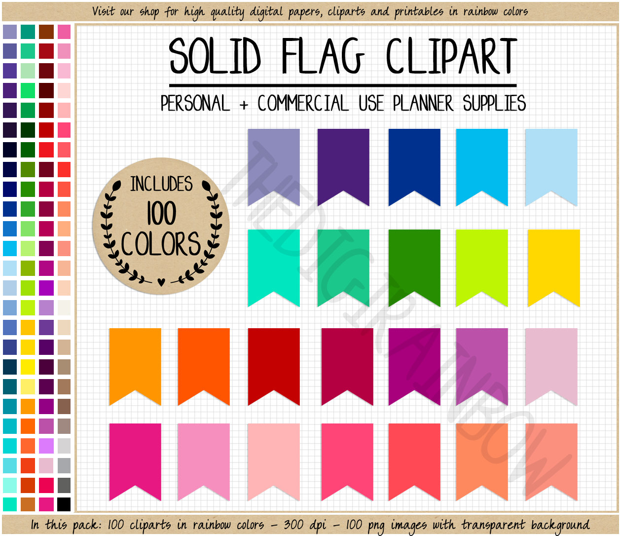 Straw clipart colorful  planner clipart file FLAG