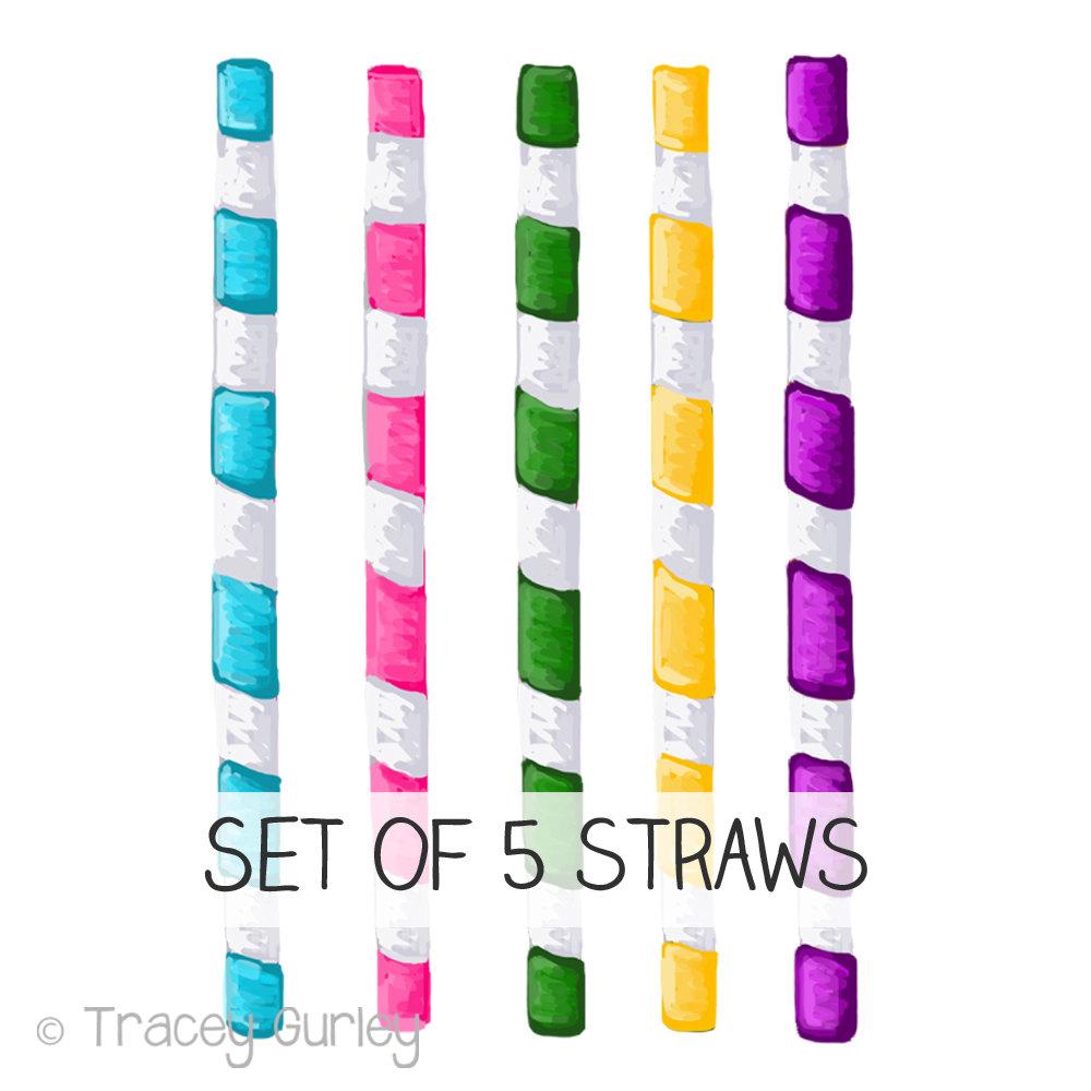 Straw clipart colorful Straw art Art file Clip