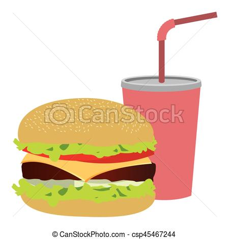 Straw clipart colorful Soda silhouette burger soda and