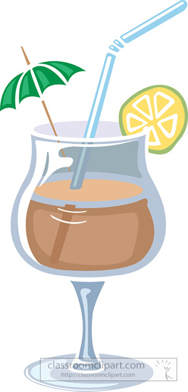 Beverage clipart straw : tropical Clipart drink straw