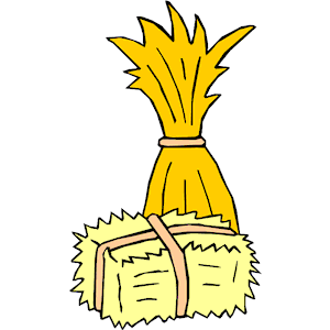 Haystack clipart straw hay Clipart art Hay Collection wagon