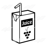 Straw clipart juice Clip Juice Abeka yellow