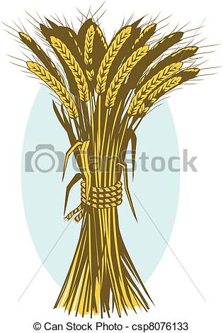 Straw clipart wheat bundle EPS Wheat Clip vector of