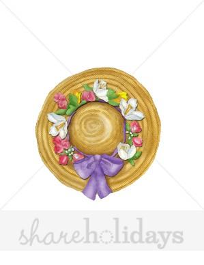 Straw Hat clipart bonnet Party Bonnet Clipart Backgrounds Easter
